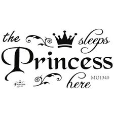 Removable Princess Sleeps Wall Stickers Art PVC Decals Baby Girls Room N4B2