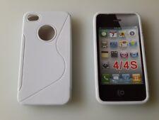 Weiß Apple iPhone 4 / S4 / G4 / Schutz Hüllen SILIKON CASE Handy Tasche Cover