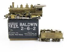 United PFM HO Brass Baldwin 2-6-2 Steam Locomotive Unpainted