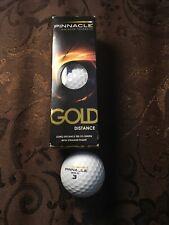 New Open Box Pinnacle Gold Distance Golf Balls (3 Balls)