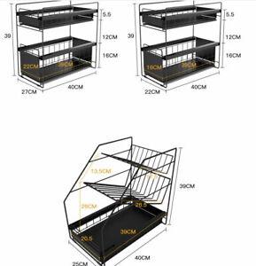 Teleskopschublade Küchenschublade Korbauszug zum Nachrüsten Aufbewahrung