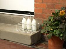 Supahome 6 Milk Bottle Holder Carrier Tidy Crate Rack Six Pint Bottles Carton