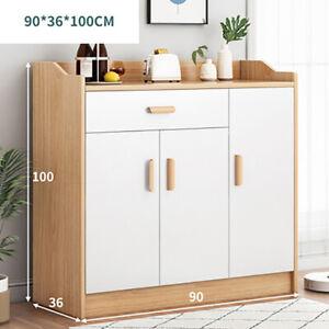 Sideboard Cabinet Buffet 3 Doors 1 Drawer Storage Cupboard Shelf Shelving Unit