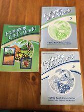 Abeka Exploring God's World Grade 3 Science 1987 Teacher's Edition Student Tests