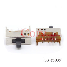 10pcs Vertical Slide Switch 8 Pins 3 Position 2P3T Contact Type DC 50V 0.5A DP3T