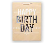 Jumbo Happy Birthday to You on Kraft Gift Bag, Set of 6