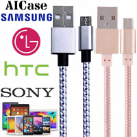 Micro USB Fast Charging Cord Cable Sync Braided For Android Cell Phone Samsung