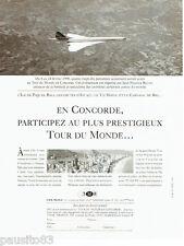 PUBLICITE ADVERTISING 056  1997  TMR   le tour du monde en Concorde