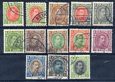 ICELAND 1931-37 Christian X definitive set  used