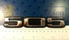Monogramme 505 autocollant (aluminium chromé) Peugeot 505