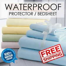 SOL HOME ® King Pink Waterproof Bed Mattress Protector Cover Sheet Fitted Sheet