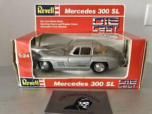 1988 Revell 1:24 Die Cast Car Silver Mercedes 300SL 8602 NRFB