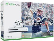 NEW Microsoft Xbox One S (Latest Model) Madden NFL 17 Bundle 1 TB White Console