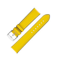 Morellato CROQUET Quick-Release Leather Watch Strap in YELLOW