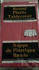 nappe plastique ronde bordeaux
