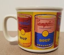 Vintage 1998 CAMPBELL'S SOUP Warhol Inspired Color Images Can Design Coffee Mug