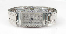 Vintage 14K Solid White Gold 1.15ct Diamond Face GENEVE Ladies Watch SWISS Italy