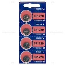 4 New Sony Cr1220 3V Lithium Coin Battery Expire 2026 Freshly New - Usa Seller