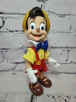 "Vintage Walt Disney Pinocchio Vinyl Jointed ""Applause"" Doll Figure 9.5"" Tall"