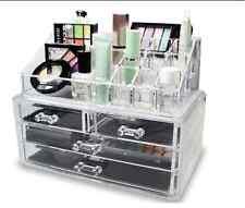 New Make Up Organizer Jewelry Cosmetic Storage Case Drawers Display Box Bathroom