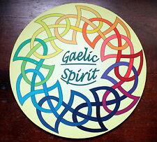 Tappetino mouse tondo 20cm di gaelico spirito con simboli celtici in multi colore