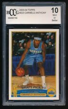 CARMELO ANTHONY 2003-04 TOPPS #223 RC BCCG 10 *OKLAHOMA CITY THUNDER* GEM MINT