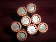 SHOTGUN ROLL WHEAT PENNIES GOOD MIX DATE 1 INDIAN HEAD ON THE END 1 MERCURY DIME