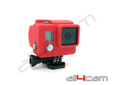GoPro Hero 3+ étui silicone Protectrice Anti saleté Housse Rouge Rubber Hero3+