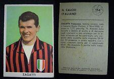 ***FIGURINA SIDAM IL CALCIO ITALIANO 1960/61*** ZAGATTI (MILAN) N. 154
