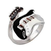 Frauen Elegante Gitarre Punk Ringe Charme Bunte Gitarre Ring Musical Finger DXUI