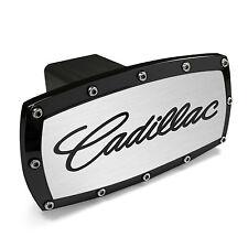 Cadillac Black Trim Engraved Billet Aluminum Tow Hitch Cover