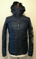G Star Raw Coper Quilted Hoodie Overshirt Jacket Mazarine Blue Size Small
