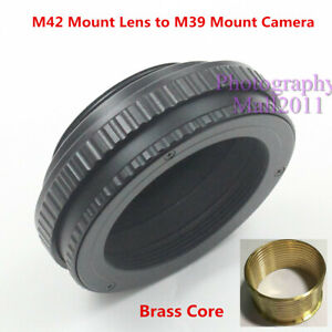 Brass M42 to M39 12mm-19mm Adjustable Macro Tube Focusing Helicoid Mount Adapter