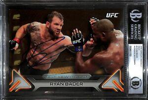 Ryan Bader Signed 2016 Topps UFC Knockout 5x7 Gold Card #3 BAS Beckett COA #/10