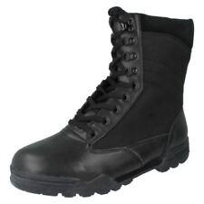 Stivali , anfibi e scarponcini da uomo stivali militanti casual neri