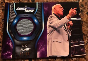 2019 TOPPS WWE SMACKDOWN RIC FLAIR EVENT-USED CANVAS MAT REL SN/99! NWA,WWE,WCW