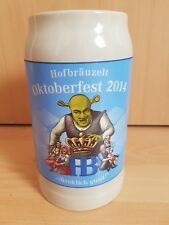 Oktoberfest Hofbrau House 2014 Shrek Beer Stein Mug Munich Germany