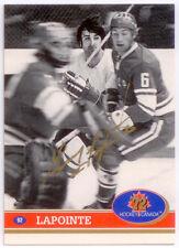 1991-92 Future Trends Canada '72 Guy Lapointe Gold Paint Autograph AU