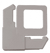 "CRL Gray 7/16"" Square Cut With Lift Tab Plastic Screen Frame Corner - pack o..."