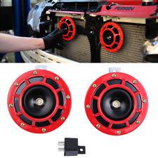 Dual 335/400HZ Grille Mount Super Tone Loud 12V Compact Electric Car Horn Kit