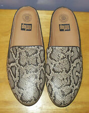 Gorgoeus FitFlop Superskate Taupe Snake Leather Mules! SUPERCOMFF! Size 10
