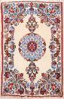 Vintage IVORY Nain Medallion Handmade Area Rug Wool Oriental 2'x3' Foyer Carpet
