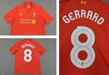 The Reds 2012-13 WARRIOR Liverpool FC Home Shirt GERRARD 8 YOUTH XL.Boys XSadult