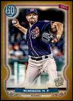Max Scherzer 2020 Topps Gypsy Queen 5x7 Gold #166 /10 Nationals