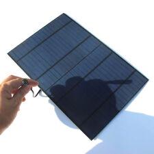 Carga rápida del panel solar cargador de batería 10W DC 5521 a pinzas de cocodrilo