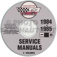 1984-1985 Corvette Shop Manual CD Repair Service Books on CD-ROM Chevrolet Chevy