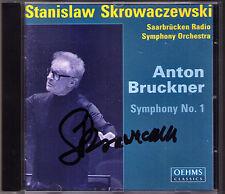 Stanislaw SKROWACZEWSKI Signiert BRUCKNER Symphony No.1 OEHMS CD Sinfonie