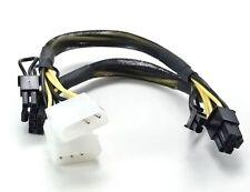 """AYA 14"""" 2x 4-Pin Molex to 8"""" PCIE2 8-Pin (6+2) + 6"""" PCI2 8-Pin (6+2) AYA-4P62-MP"""
