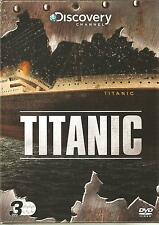 TITANIC - 3 DVD BOX SET - THE AFTERMATH PARTS 1 & 2 + ANATOMY OF A DISASTER