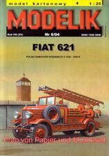 Modelik  6/04 - Fiat 621 Feuerwehr Leiterwagen - 1:25